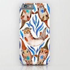 Five Otters – Blue Palette iPhone 6 Slim Case