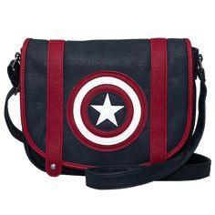 Marvel - Captain America Loungefly Crossbody Bag - ZiNG Pop Culture Chris  Evans Captain America 686bbcbf49da
