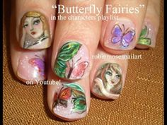 Fall Fairy Nail Art by Robin Moses