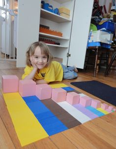 Decanomial - Square of Pythagoras - and Pink Tower Extentions.