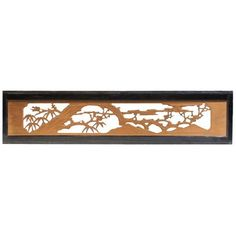 Ranma (transom) are placed above doorways to allow light and air to pass between interior rooms when doors are closed. Sugi - Japanese cedar wood Early Century x (height, width) Japanese Furniture, Architectural Elements, Doorway, Room Interior, Bamboo, Traditional Japanese, Home Decor, Entrance, Entryway