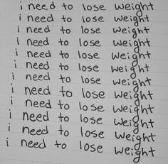 i need to lose weight