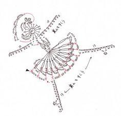 free crochet patterns: motif of princess odette in swan lake - crafts ideas - crafts for kids