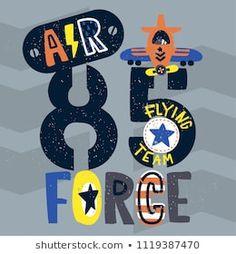 Vintage air force typography, T-Shirt design for kids. New T Shirt Design, Shirt Designs, Vintage Air, Cartoon T Shirts, Portfolio, Baby Design, Shutter, Baby Wearing, Baby Dress