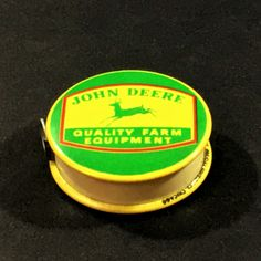 Vintage John Deere Advertising Celluloid Plastic Retractable Cloth Sewing Measuring Tape by NostalgiaDenAntiques on Etsy