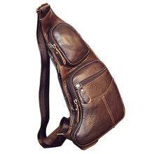 Genuine Leather Vintage Sling Bag Handbags for Men Travel Fashion Cross Body Messenger Shoulder Chest Bag High Quality Day Pack Vintage Leather, Vintage Men, Real Leather, Leather Men, Leather Bags, Leather Working, Leather Backpack, Travel Backpack, Backpack Bags