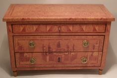 Ceron Anticoli, Anticoli Miniaturas - limited edition reproduction of an antique commode, using the same woods and techniques as the original