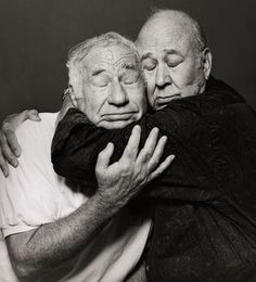Mel Brooks and Carl Reiner, photograph by Robert Trachtenberg