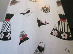 New Saturday Knight Limited Cosmo Fabric Shower Curtain Dresses/Shoes/Purses