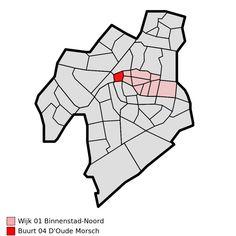 Map - NL - Leiden - Wijk 01 Binnenstad-Noord - Buurt 04 D'Oude Morsch - Wijken en buurten in Leiden - Wikipedia Leiden