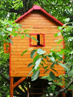 Rhea - the tree playhouse Tree Houses, Play Houses, One Tree, Building, Outdoor Decor, Home Decor, Games, Decoration Home, Room Decor