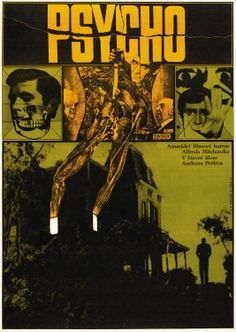 Get the Top Horror Movies list that will definitely scare the crap out of you. Don't forget to watch these insanely scary movies. Save these old horror films. Horror Movie Posters, Polish Movie Posters, Horror Movies, Cinema Posters, Art Posters, Horror Art, Hitchcock Film, Alfred Hitchcock, Foreign Movies