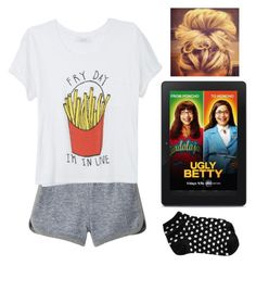 """I'm Sitting In My Room Watching Ugly Betty On Netflix"" by dyana-daniels ❤ liked on Polyvore featuring T By Alexander Wang, Old Navy, women's clothing, women, female, woman, misses and juniors"