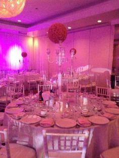 Wedding Hall Table Setting