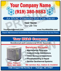 Check Out These Great Hvac Business Cards From Value
