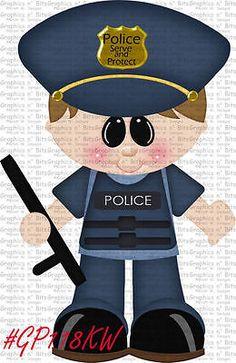 S- SL- POLICE OFFICER ~ Scrapbook Embellishment GNB643