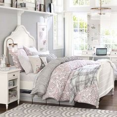 Genevieve Bed | PBteen love this bed for Ellie and Leci
