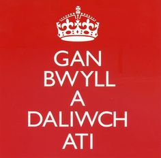 Keep Calm and Carry On Poster in Welsh! Gan Bwyll a Daliwch Ati ! by POBshop Learn Welsh, Welsh Words, Welsh Language, Christmas Presents For Dad, Welsh Gifts, Welsh Rugby, Ww2 Posters, Cardiff Wales, Keep Calm Posters