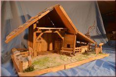 Krippenbausatz Hochalm , Krippenbau, Krippe selber bauen Nativity Stable, Fairy Gardens, Christmas Time, Portal, Christmas Decorations, Country, House Styles, Home Decor, Ideas