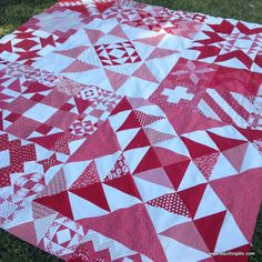 A Quilting Life - a quilt blog: Works in Progress: Red & White Quilt Finish