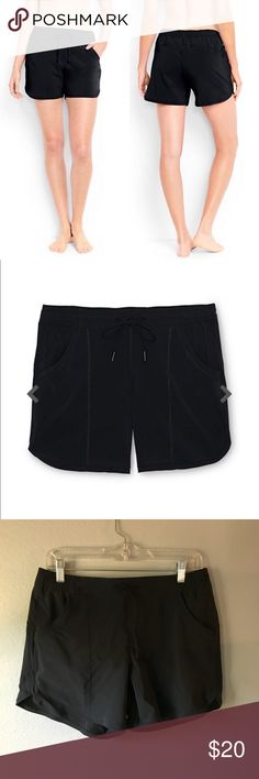 "Lands' End 5"" Board Shorts Black brand new 5"" board shorts from Lands' End. Make me an offer and bundle for bigger discounts! Great add on for new Lands' End bathing suits in my closet. All brand new and sold out on line. Lands' End Shorts"