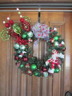 Whimsical Christmas Wreath by AlliRaeCrafts on Etsy, $165.00