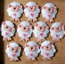 Resultado de imagen para molde de ovelhinha