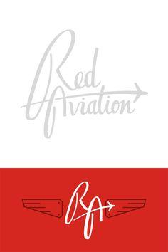 Red Aviation Logo by Thomas Ramey Logo Branding, Branding Design, Logos, Airport Logo, Tool Design, Web Design, Aviation Logo, Airline Logo, Love Logo