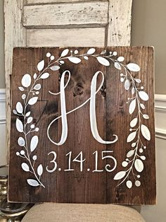 Rustic Home Decor Initial with Wedding Date by SalvagedChicMarket