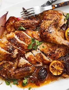 Jammy lemons and plump roasted dates are cooked with this chicken for an easy yet alternative whole chicken dish