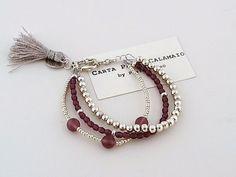 Boho chic, multi strand bracelet