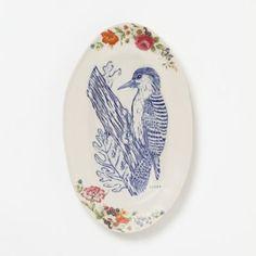 Noelle Horsfield Woodpecker Platter