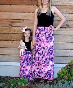 Pink Tie-Dye Maxi Dress Set - Infant, Toddler, Girls & Women #zulily #zulilyfinds