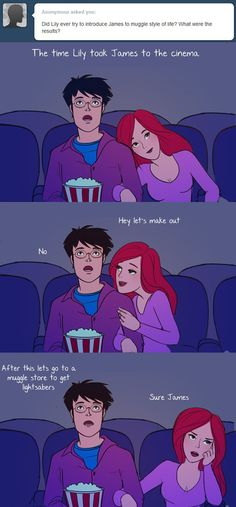 The time Lily took James to the cinema.
