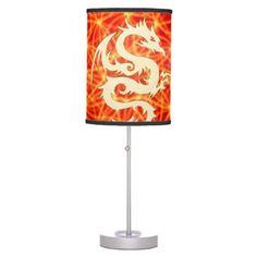 #home #lamps #decor - #Wonderful golden dragon table lamp