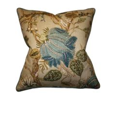 How stunning would a pair of these pillows look on a bed draped in linen and a creamy matelassé fabric? Barclay Butera