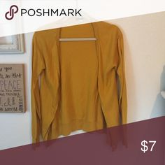 J. Crew gold cardigan! Typical cardigan. Sleeves reach wrists. Only worn handful of times. J. Crew Sweaters Cardigans