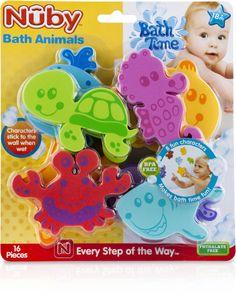 16-Piece Bath Tub Foam Animal Characters Case Pack 24