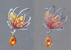 Gouache : Jewelry rendering on Behance