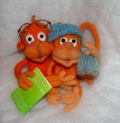 Обезьянки - Мои игрушки - Галерея - Форум почитателей амигуруми (вязаной игрушки)