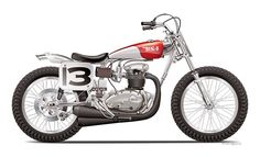BSA 650 Flat Track Bike - Mark Sutton