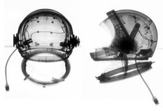 "Radiograph Image of A4-H ""Universal"" Helmet, Hamilton Standard, 1964 Ron Cunningham and Mark Avino"