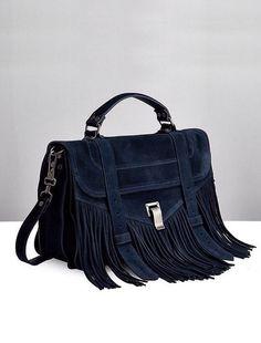 dreamy suede fringe bag #style #fashion #accessories #proenzaschouler
