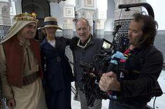 BTS Queen of the Desert, Rob, Nicole Kidman, Werner Herzog, & cameraman Peter Zeitlinger