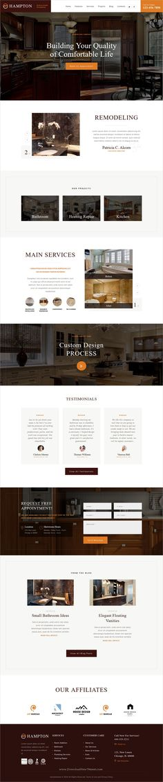 Hampton is a wonderful responsive #WordPress theme for #interior design, home #repair, #renovation or maintenance service websites download now➩ https://themeforest.net/item/hampton-home-design-and-house-renovation/19217437?ref=Datasata