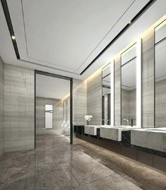 32 Amazing Public Bathroom Design Ideas, Simply incorporate a superior looking round shower drape and also you will have a distinct design others are going to certainly appreciate. Shape desi...