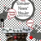 "FREE!! Fill a snack size plastic bag with chocolate malt balls and 1 red cherry ball candy or red bubblegum. Then attach the cute ""Reindeer Noses"" header. Use them as gifts or stocking stuffers for your students, teacher friends or family members! Merry Christmas!"