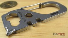 Silver Stainless Steel Versatile Tools Key Chain (Swan) / leismore selected #leismore
