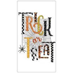 Trick or Treat Web Flour Sack Towel