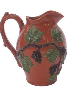 19th century white wine pitcher from Alsace, France.